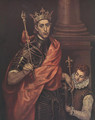 A Saintly King - El Greco (Domenikos Theotokopoulos)