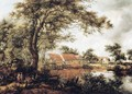 Wooded Landscape with Water Mill - Meindert Hobbema