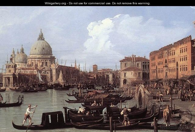 The Molo: Looking West (detail) - (Giovanni Antonio Canal) Canaletto