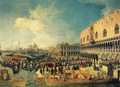 Reception of the Ambassador in the Doge's Palace - (Giovanni Antonio Canal) Canaletto