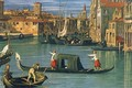 The Grand Canal at the Salute Church [detail] - (Giovanni Antonio Canal) Canaletto