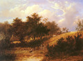 Landscape with figure resting beside a pond - Joseph Thors