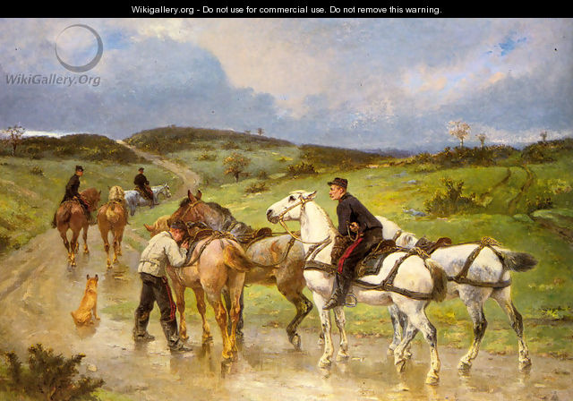Changing Horses - Pierre Auguste Brunet-Houard