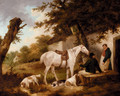 Travellers Resting Outside The Bell Inn - George Morland