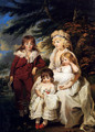 Portrait Of The Hon. Juliana Talbot, Mrs Michael Bryan (1759-1801), With Her Children Henry, Maria And Elizabeth - James Ward