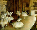 Ballet Rehearsal On Stage - Edgar Degas
