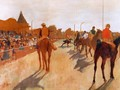Racehorses in Front of the Grandstand 1866-68 - Edgar Degas