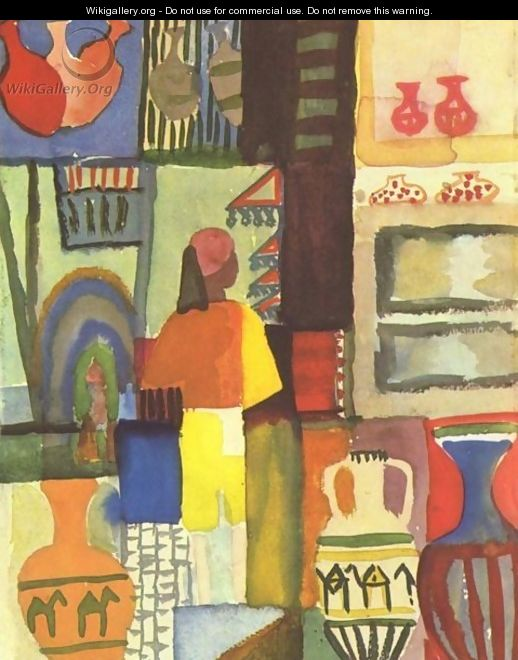 Dealer With Pitchers - August Macke