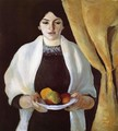 Portrait with Apples- Wife of the Artist 1909 - August Macke