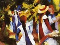 Girls In The Forest - August Macke