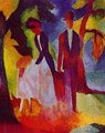 Family At The Blue Lake - August Macke