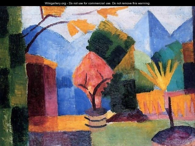 Garden At The Thuner Lake - August Macke