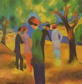 A Woman In Green Jacket - August Macke