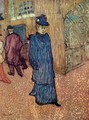 Jane Avril Infront Of The Moulin Rouge - Henri De Toulouse-Lautrec