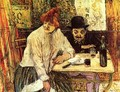 In The Restaurant La Mie - Henri De Toulouse-Lautrec