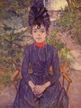Portrait Of Justine Dieuhl In The Garden - Henri De Toulouse-Lautrec