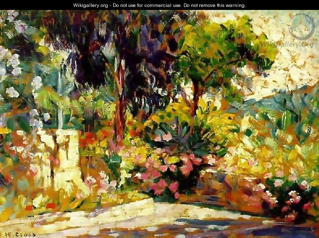 Flowered Terrace - Henri Edmond Cross