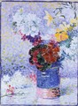 Flowers In A Glass - Henri Edmond Cross