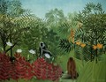 Tropical Forest With Apes And Snake - Henri Julien Rousseau