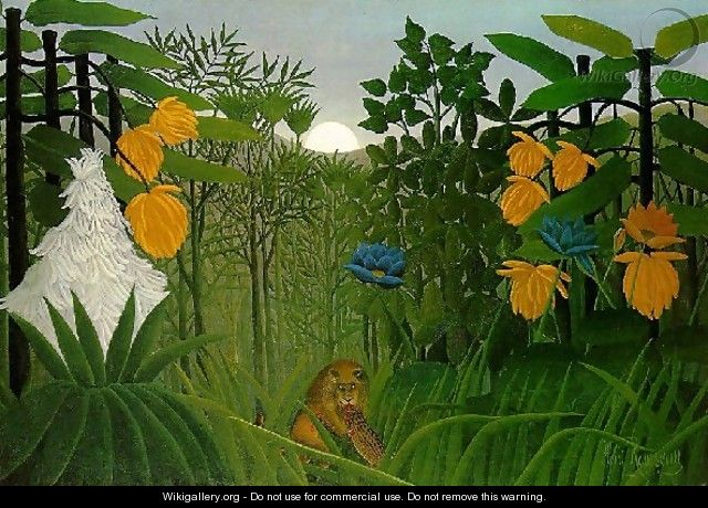 The Repast Of The Lion - Henri Julien Rousseau