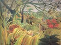 Tiger In A Tropical Storm Surprised - Henri Julien Rousseau