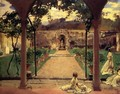 At Torre Galli Ladies In A Garden - John Singer Sargent