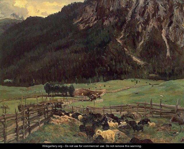 Sheepfold In The Tirol - John Singer Sargent