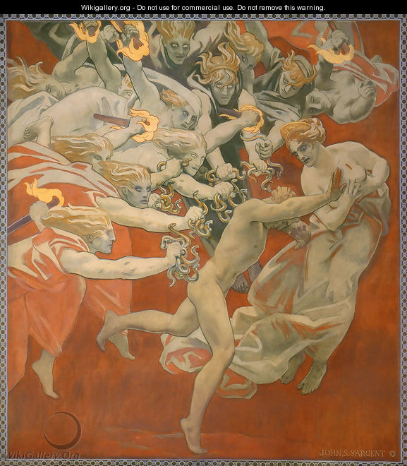 Orestes Pursued By The Furies - John Singer Sargent