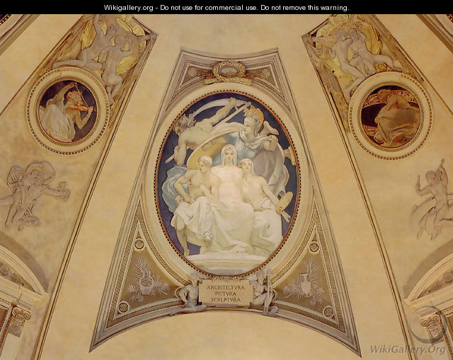 Architecture Painting And Sculpture Protected By Athena From The Ravages Of Time - John Singer Sargent