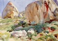 The Simplon Large Rocks - John Singer Sargent