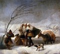 The Snowstorm - Francisco De Goya y Lucientes