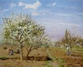 Orchard In Bloom At Louveciennes - Camille Pissarro