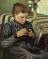 Girl Sewing 1895 - Camille Pissarro