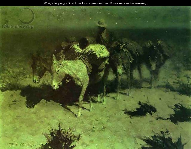 A Pack Train - Frederic Remington