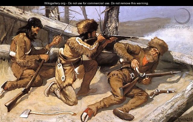 A Brush With The Redskins - Frederic Remington