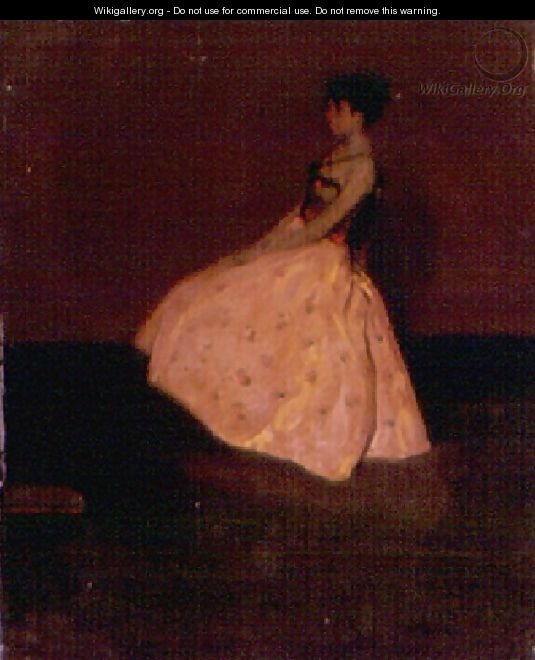 Girl In A Yellow Silk Skirt - Alfred Henry Maurer