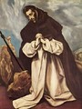 St Dominic in Prayer 1586-90 - El Greco (Domenikos Theotokopoulos)