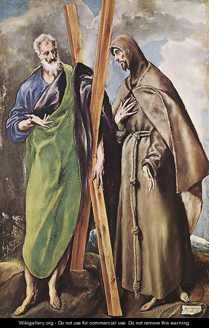 St Andrew and St Francis 1595 - El Greco (Domenikos Theotokopoulos)