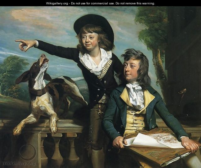 Charles Callis Western And His Brother Shirley Western - John Singleton Copley