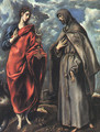 Saints John the Evangelist and Francis, 1600 - El Greco (Domenikos Theotokopoulos)