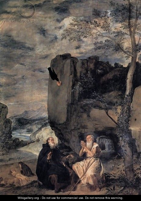 St Anthony Abbot And St Paul The Hermit - Diego Rodriguez de Silva y Velazquez